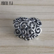 Heart Charms Beads Silver 925 Original Fit Brand Bracelet Jewelry Vintage Bead for Making Pendants