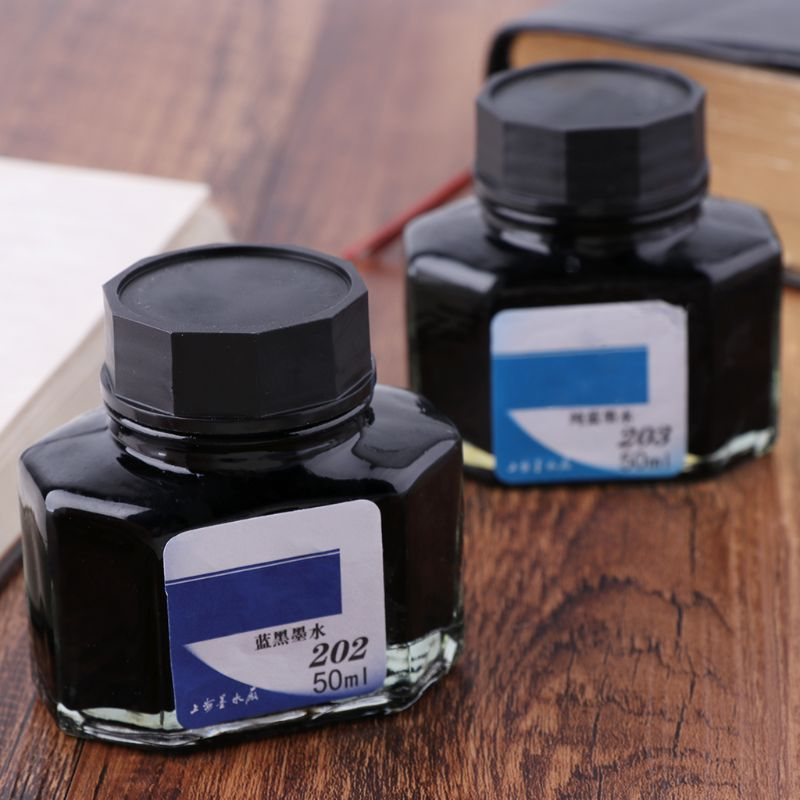 50ml Bottled Glass Smooth Writing Fountain Pen Ink Refill School Student Stationery Office Supplies 4 Colors Whosale & Dropship