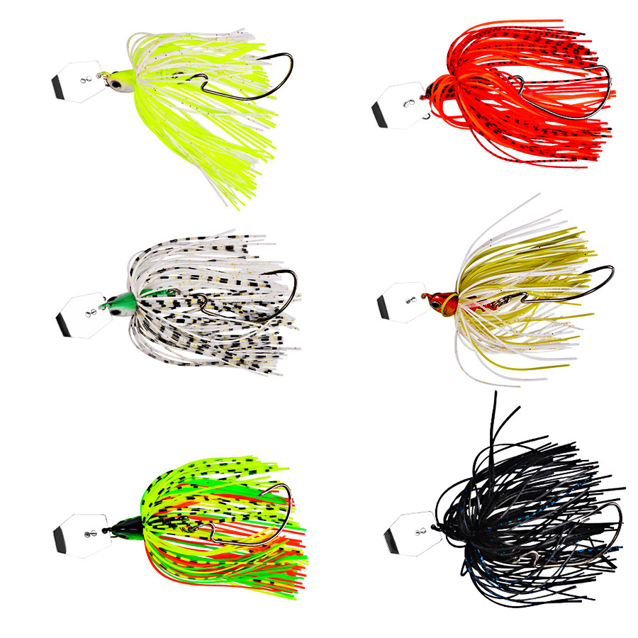 1pcs Chatterbait Tackle Fishing Lure Spinnerbait Buzz Artificial Bait Isca Walleye Fish Bass Pike Wobbler For Trolling Swimbait-5