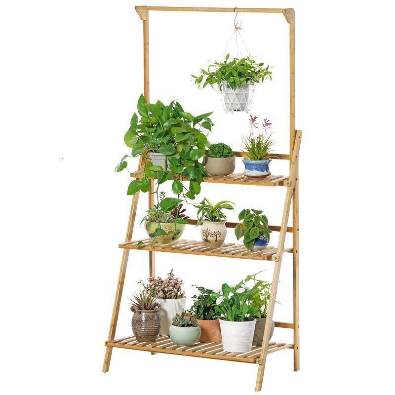 Table Estanteria Macetas Repisa Para Plantas Indoor Pot Garden Wooden Shelves For Plant Rack Balcony Shelf Outdoor Flower Stand