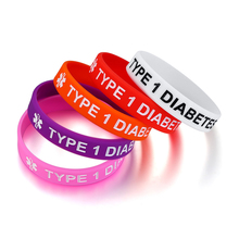 Colorful Baby Bracelet For Boy Girls Children Safty Silicone Rubber Brands Type 1 Diabetic Medical Alrert Warp Wristbands