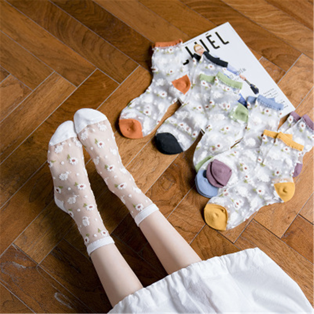 Slim And Transparent Glass Stockings For Japanese And Korean Ladies HY001
