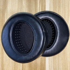 Image 2 - Угловые круглые наушники из овчины 100 мм для Сибири для наушников Beyerdynamic, амбушюры из высококачественной кожи, перфорированные мягкие амбушюры с эффектом памяти