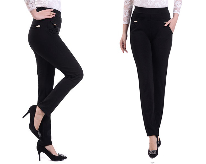 Summer Women Pants 2020 New Color High Waist Stretch Thin Casual Pants Plus Size 5XL Middle-aged mom pants Women's clothing J23