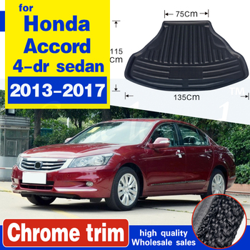 For Honda Accord 2013-2017 1PC Car Styling Cargo Liner Car Trunk Mat Carpet Interior Floor Mats Leather Pad Auto Accessories image