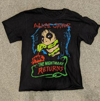 Alice Cooper-Camiseta constictor The Nightmare 1986 Unisex, todas las tallas, negra, L727