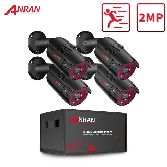 ANRAN 1080P Analog HD Camera AHD DVR CCTV Security System IR Night Vision Camera Kit Indoor&Outdoor Video Surveillance System