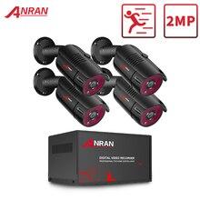 Anrun 1080P التناظرية HD كاميرا AHD DVR CCTV نظام الأمن الأشعة تحت الحمراء للرؤية الليلية طقم كاميرا نظام مراقبة بالفيديو في الأماكن المغلقة والهواء الطلق
