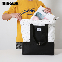 Mihawk Portable Lunch Bag Thermal Insulated Bento Box Tote Travel Cooler Pouch Container School Food Storage Handbag Accessories|Lunch Bags|   -