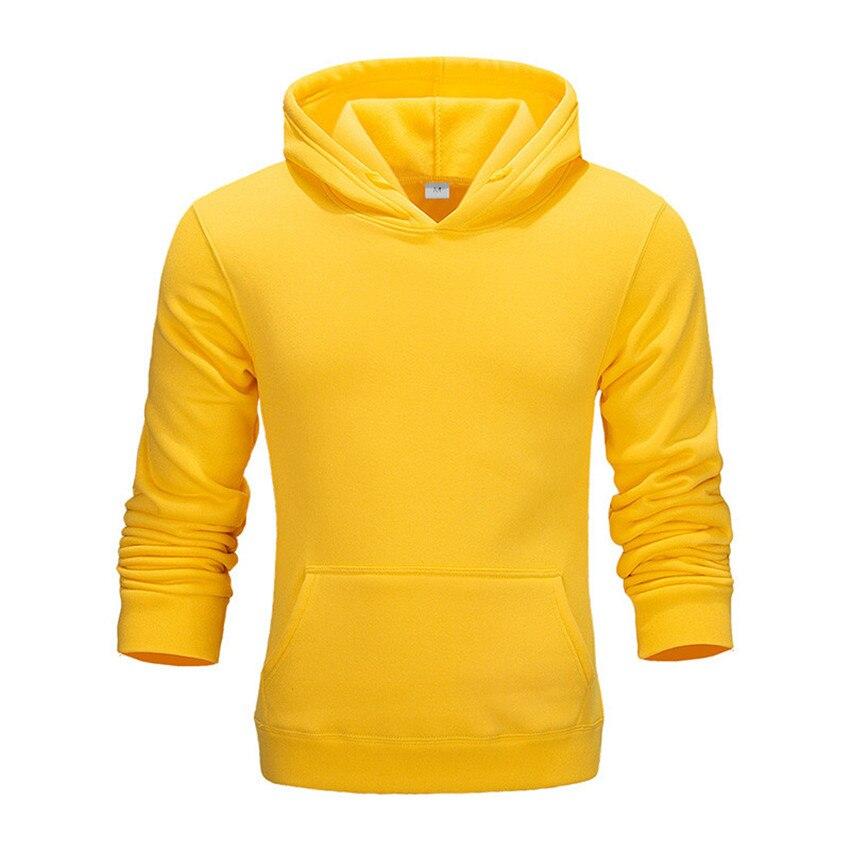 Yellow  Autumn Winter Sweatshirts Hot Sale Fashion  Mens Hoodies Warm Pullovers Casual Hip Hop Hoody New Men Tracksuit Cotton