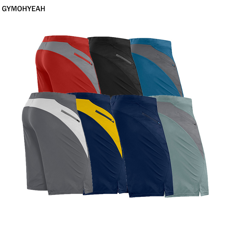 GYMOHYEAH 2020 Summer New Casual Quick-drying Shorts Men Solid Tight Male Shorts Gyms Fitness Jogger Men Shorts Clothing