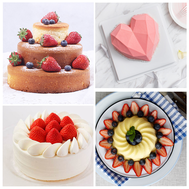 Image 4 - Random Color Silicone Cake Round Shape Mold Kitchen Bakeware DIY Desserts Baking Mold Mousse Cake Moulds Baking Pan Tools-in Cake Molds from Home & Garden
