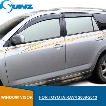 Side Window Deflectors For Toyota rav4 2009 2010 2011 2012 2013 Highly Transparent  Window Visor  Sun Rain Deflector Guard SUNZ window visor vent shades sun rain guard for toyota prado fj120 2003 2009