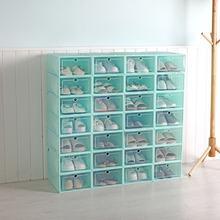 Caixa de sapato de plástico transparente artefato de armazenamento criativo sapato caixa de armazenamento diy sapato caixa de sapato armário de armazenamento caixa de sapato rack de sapato