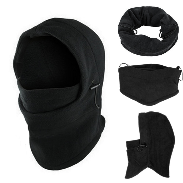 Balaclava Winter Face Hat Fleece Hood Ski Mask Warm Helmet Set Fashion 6 In 1 Neck D91107