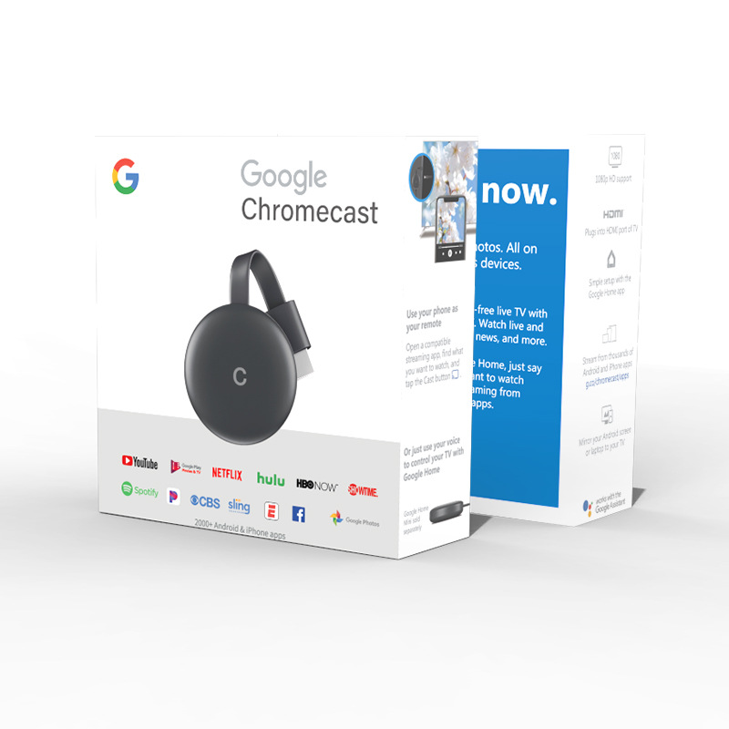 Google Chromecast Media Streamer, Chromecast Youtube Netflix, Miracast TV Adapter, Wireless Display Dongle Video Hdmi Cast Chrom