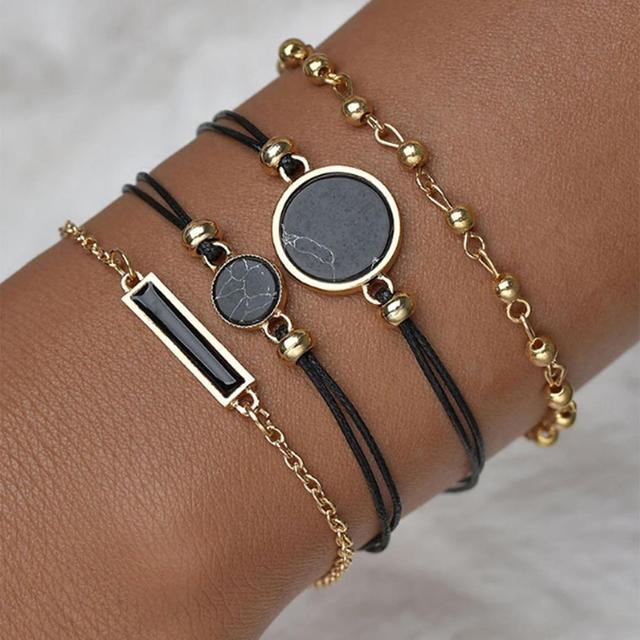 5pcs Set Top Style Fashion Women's Luxury Leather Band Analog Quartz WristWatch Ladies Watch Women Dress Reloj Mujer Black Clock 3