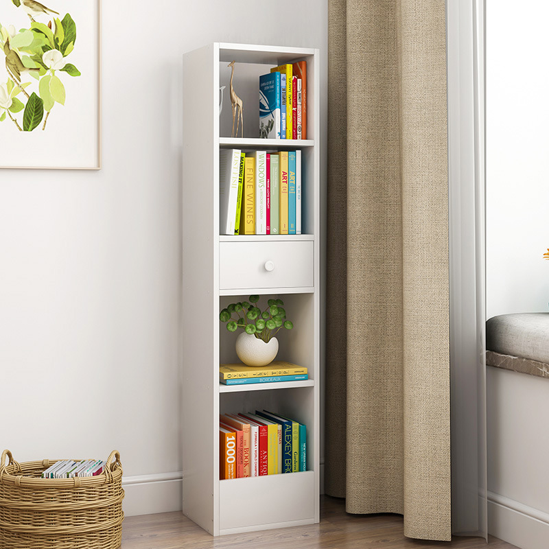 Simple Bookshelf Floor Storage Small Cabinet Free Combination Plaid Storage Corner Cabinet Multi-functional Bookcase Simplicity