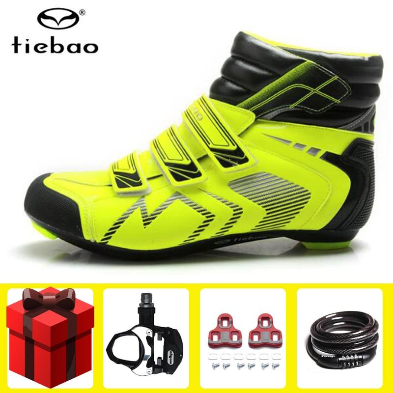 Tiebao/зимняя велосипедная обувь для езды на велосипеде; комплект с педалью; дышащая уличная спортивная велосипедная обувь; обувь для езды на велосипеде; sapatilha ciclismo