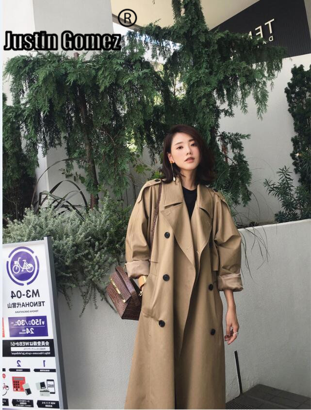 Fashion Classic Military Style Double Breasted long Trench coat  Business Outerwear Cloak Windbreaker