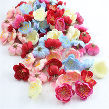 10/30pcs Silk Plum DIY Gift Box New Year Christmas Decoration Home Wedding Bridal Accessories Clearance Artificial Flowers