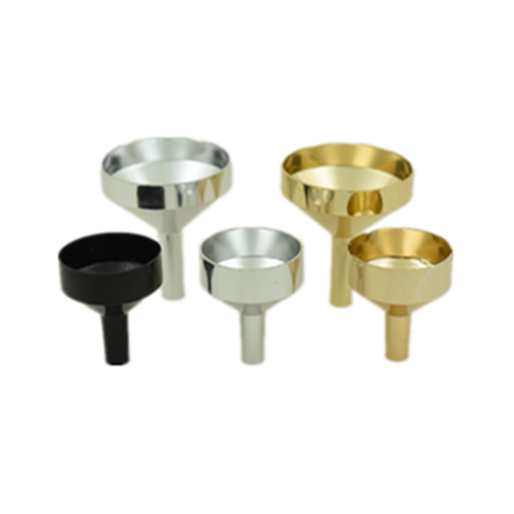 10pcs New Metal Small/large Aluminum Mini Funnel For Perfume Transfer Diffuser Bottle Mini Liquid Oil Filling  Lab