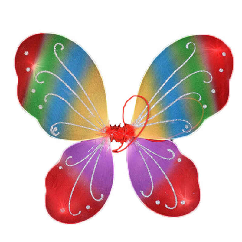 NEUE DIY Party Decor 42cm Erwachsenen Kind Pixie Perücke Fee Multicolor Große Schmetterling Kleid Up Kostüm für Schöne Mädchen hochzeit Decor