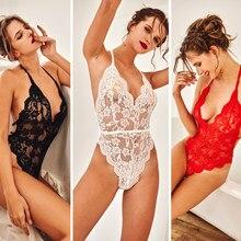 Sexy grande taille femmes lingerie dentelle transparente sous-vêtements érotiques lingerie body transparent vêtements de nuit exotique intime sexy lingerie