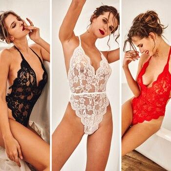 Women Lace See-through Erotic Bodysuit Bodysuits INTIMATES