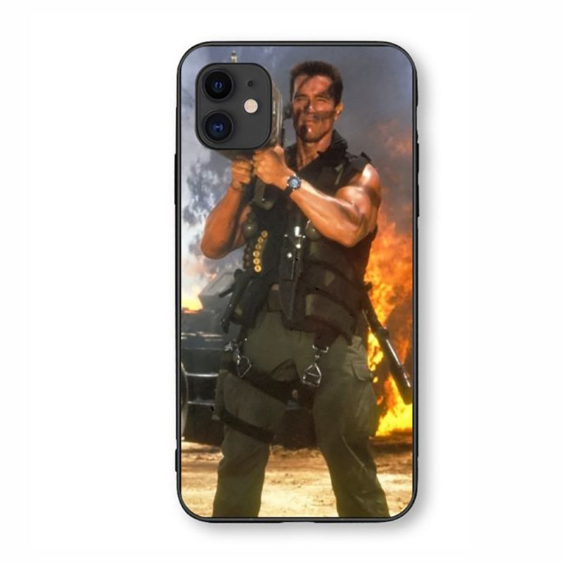 Arnold Schwarzenegger Movie Poster Glossy Smooth Tempered Glass Case Special Forces Protective Cover For Apple Lphone 11 PRO MAX (US STOCK)