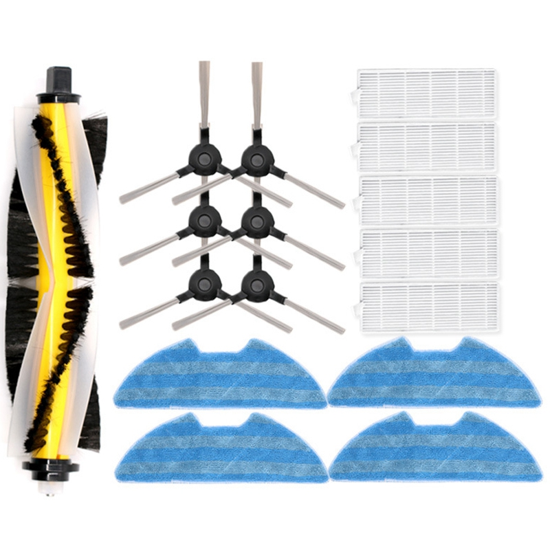 XMX-For Proscenic 780T 790T Sweeping Robot Roller Brush Side Brush Accessories Household Cleaning Strong Laundry