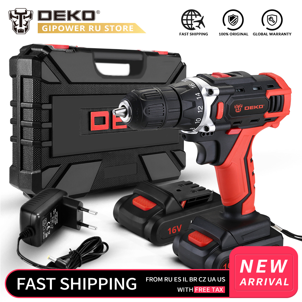 DEKOPRO Loner <font><b>16V</b></font> Cordless Drill Li-ion <font><b>Battery</b></font> Wireless Rechargeable Home Max.Drilling Diameter 3/8-Inch Electric Power Tool image