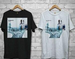 New RADIOHEAD OK COMPUTER Logo White Black T-shirt Shirts Tee XS-2Xl