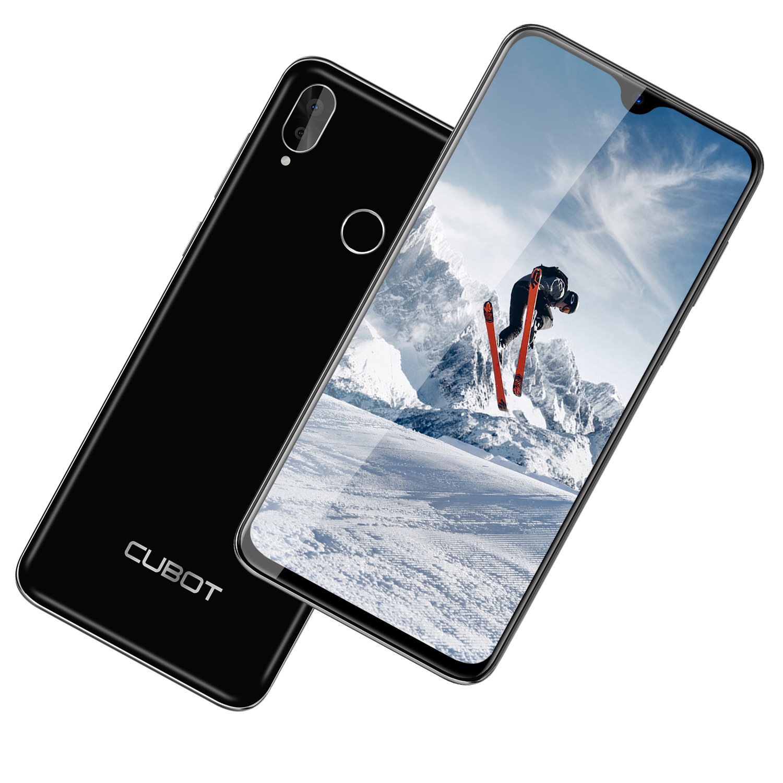 Cubot R15 Pro 3GB + 32GB ROM Smartphone Android 9,0 Quad Core 6,26 de agua 13MP 3000mAh huella dactilar Face ID móvil - 2
