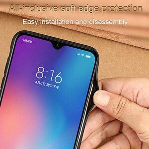 Image 2 - יוקרה עור טלפון מקרה עבור xiaomi mi 8 לייט A2 A1 9T 9 SE מקרה עמיד הלם אמיתי עור חזרה כיסוי עבור redmi הערה 7 K20 מקרה