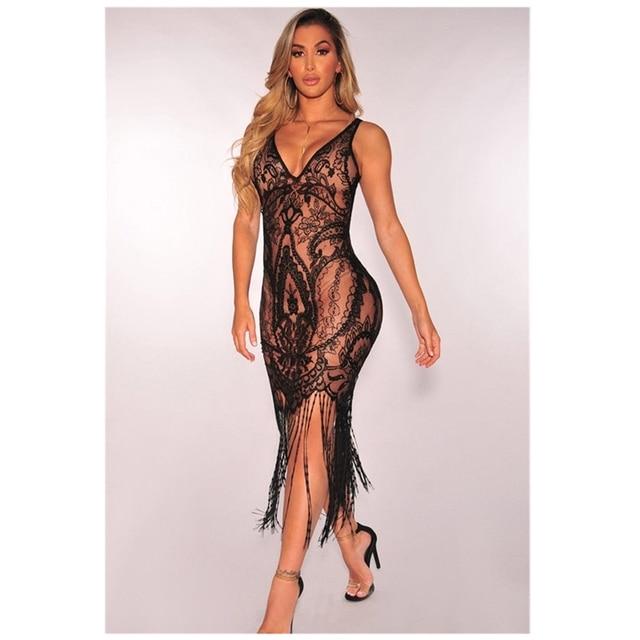 Hot Unique See Through Party Sheath Dress 1