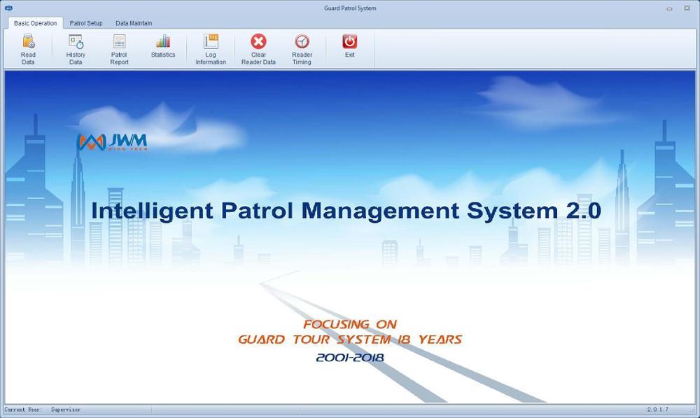Купить с кэшбэком Waterproof IP67 Durable Guard Tour Patrol System JWM Security Patrol Wand,Guard Tour Reader