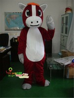 ADS Red Horse Costume Animal Mascot Suit Partys Parade Fancy Dress Outfit Gifts BirthdayHallowen Unisex Gifts