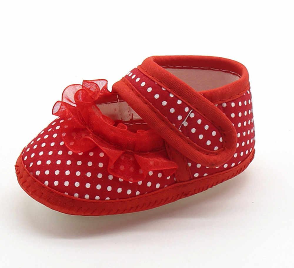 Dot Baby Booties noworodek koronkowe dziewczęce buciki niemowlęce z miękkimi podeszwami ciepłe Casual mieszkania buty szopka obuwie buciki dziecięce Schoenen