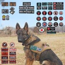 Serviço cão terapia pet remendo medic trabalhando cão no treinamento emblema emblema k9 K-9 remendo para a polícia militar colete para animais de estimação arreios