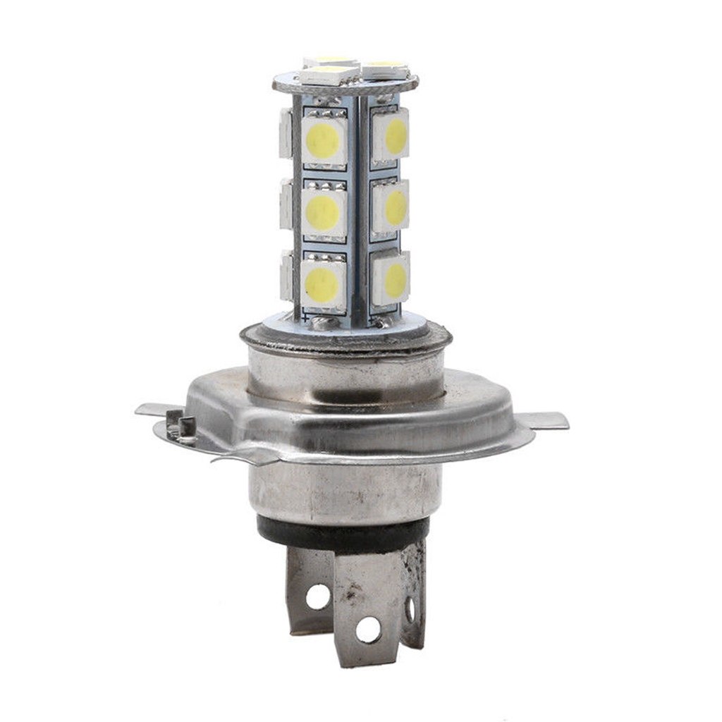 New 1Pc 7000K 12V White RV Camper Headlight H4 5050 18-LED Light Bulbs Backup Reverse Car Light Source Drop Shipping Support