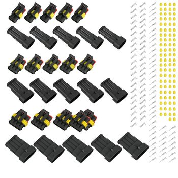 15 pcs 2/3/4 Pins Way Car Auto Sealed Waterproof Electrical Wire Connector Plug Waterproof connector