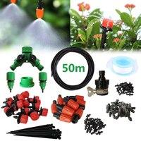 Kit de Irrigação por gotejamento  Kit De Rega de Plantas Do Jardim Do Pátio de Refrigeração Névoa Sistema de Irrigação De Fluxo Micro Gotejamento Sistema de Rega Automática
