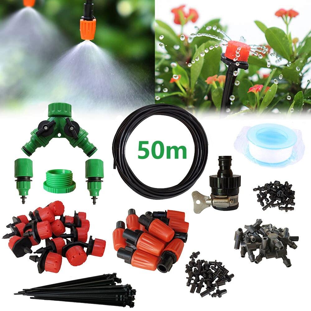 Tropf Bewässerung Kit, Terrasse Pflanze Bewässerung Kit Garten Nebel Kühlung Bewässerung System Automatische Micro Flow Tropf Bewässerung System