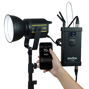 Image 4 - Светодиодная лампа для видеосъемки Godox VL150, 150 Вт, 5600K, белая версия, непрерывный выход, крепление Bowens, студийное освещение, Поддержка приложения
