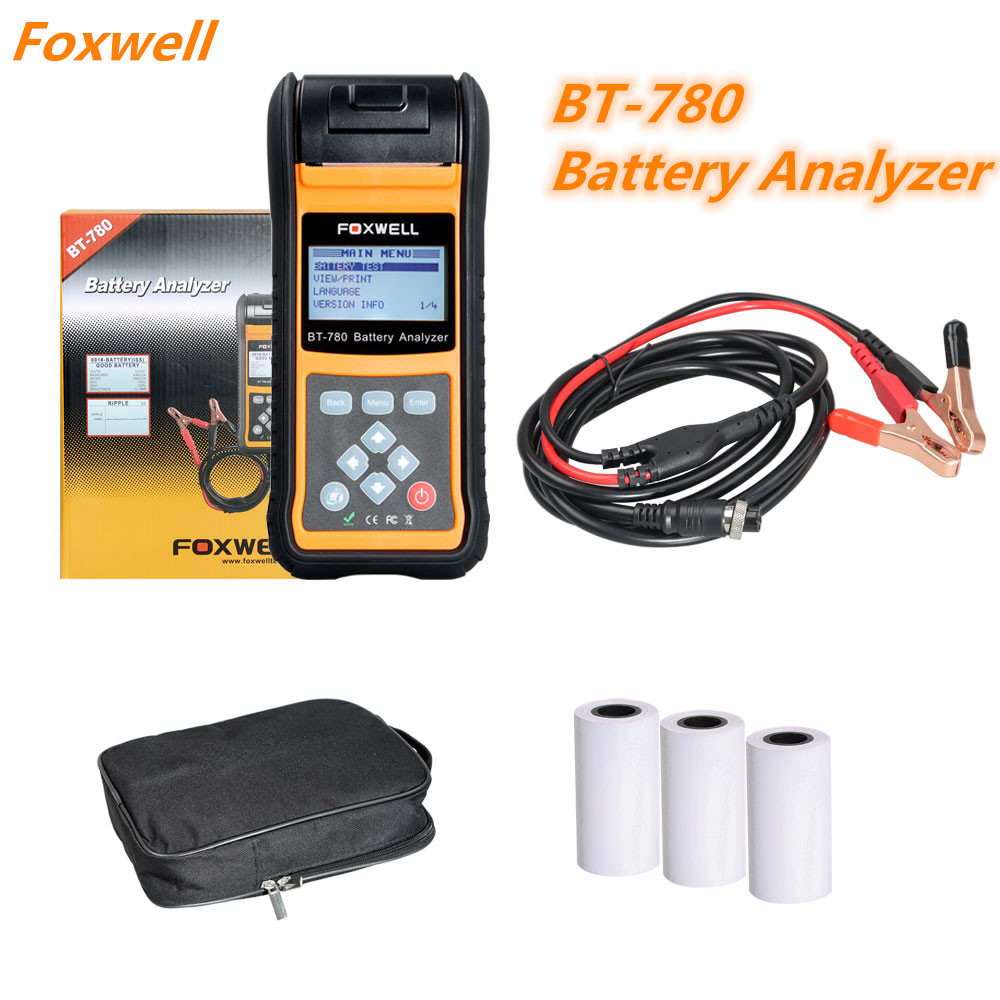 Foxwell BT780 BT-780 Battery Analyzer with Built-in Thermal Printer(China)