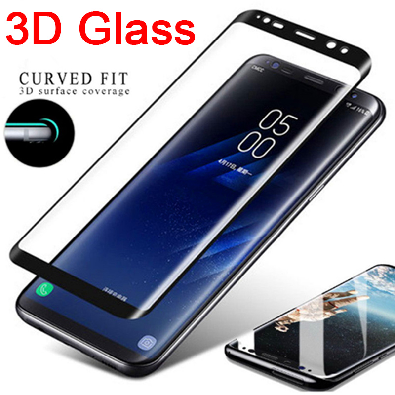 3D Curved Tempered Glass For Samsung Galaxy S9 S8 Plus Protective Glass Screen Protector On S6 S7 Edge Note 8 9 Front Film