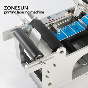 Image 2 - ZONESUN LT 50D Semi Automatic Labeling Machines Drugs Bottle Labeling Sticker Machine Label Dispenser Date With Coder