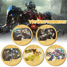 Transformers Bumblebee Gold Plated Challenge Coin with CoinGift Box America Original Coin Set Gifts Souvenirs Dropshipping(China)