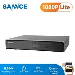 SANNCE 4 Channel 8 Channel TVI DVR AHD 5-in-1 1080N Security CCTV DVR 4CH 8CH Mini Hybrid DVR Support Analog/AHD Camera